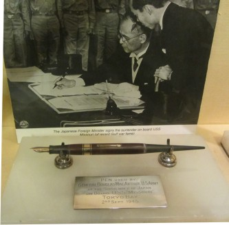 Pen used at the Japanese surrender to be displayed at Chester Town Hall